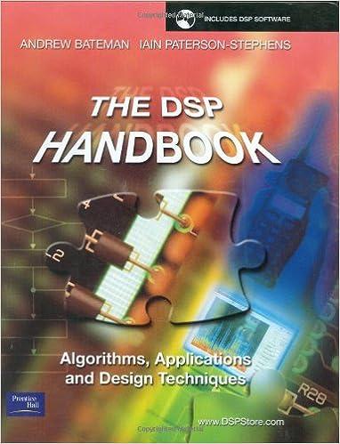 The DSP Handbook Algorithms Applications and Design Techniques