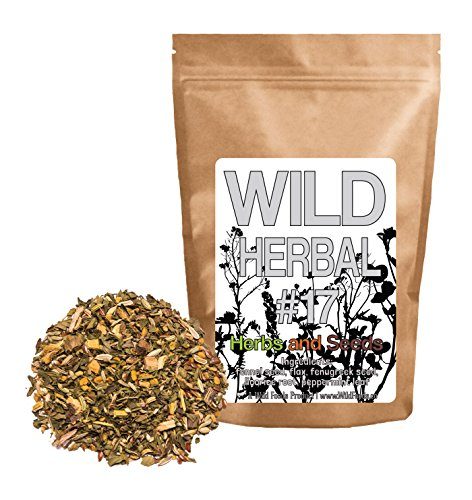 Wild Herbal Tea #17 Herbs and Seeds Blend by Wild Foods - 5 Ingredient Tea with Fennel seed, Flax, Fenugreek, Licorice root, Peppermint leaf, 100% (Licorice Root Peppermint Tea)