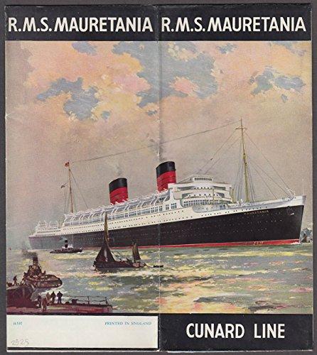 Liner Folder (Cunard Line R M S Mauretania ocean liner folder 1930s)