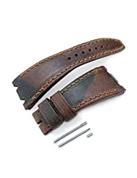 Camo Pattern Leather of Art Watch Strap for Audemars Piguet Royal Oak Offshore, Brown St
