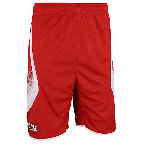 - adidas NC State Wolfpack NCAA Red Official Road Away Replica Basketball Shorts for Boys (5/6)
