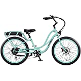 Pedego Step Thru Interceptor III Electric Bicycle - Sea Foam - 48V 10Ah