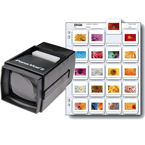Pana-Vue 2 25 35mm 2x2 Slide Film Viewer + Print File 2x2-20B Slide Pages