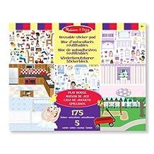 Melissa & Doug Reusable Sticker Pad Set: Play House - 175+ Reusable Stickers