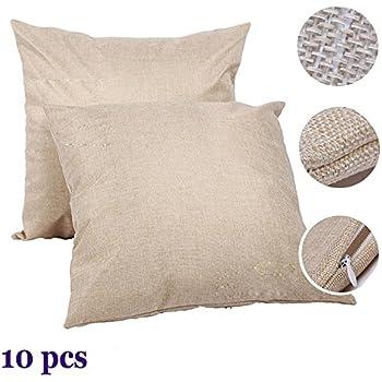 Amazon com: H-E Plain White Sublimation Blank Pillow Case Fashion