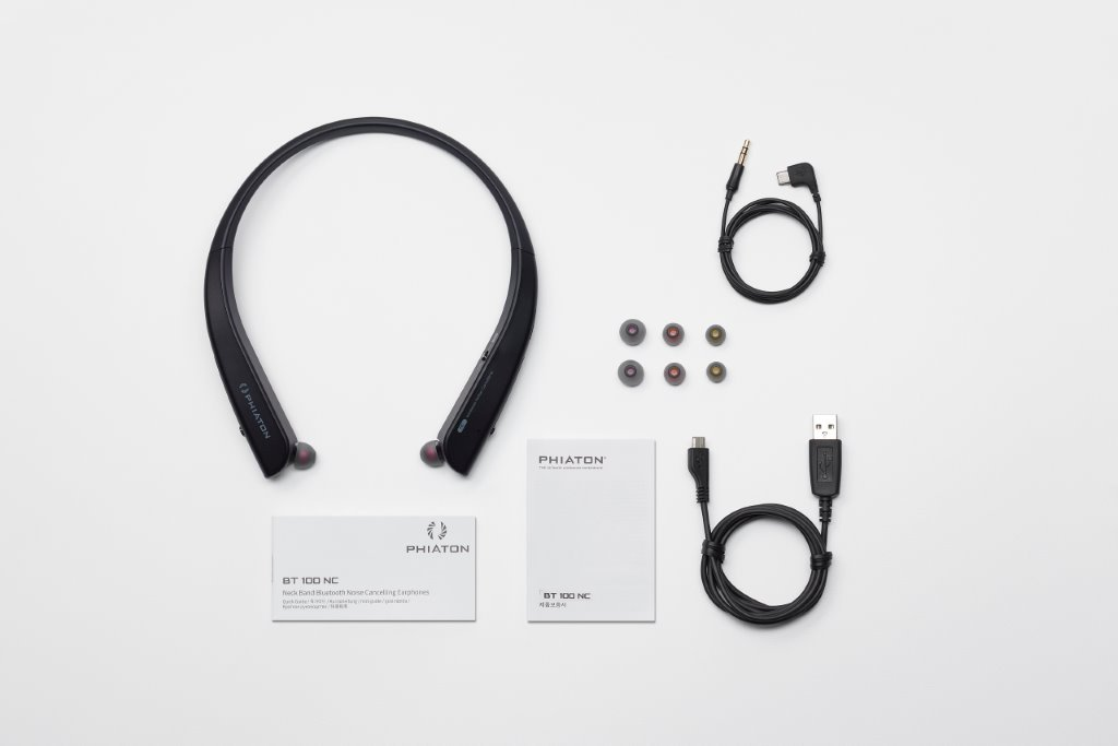 Phiaton BT 150 NC Black Wireless Active Noise Cancelling & Touch Control Neckband Style Earphones with Mic by Phiaton (Image #4)
