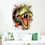 3D Wall Stick by Naladoo, Cool Dinosaur Vinyl Sticker Decals Jurassic Park Wall Mural Kids Room Decor Living Room Bedroom Dorm Decor Home Shop Windows Decals Decoration