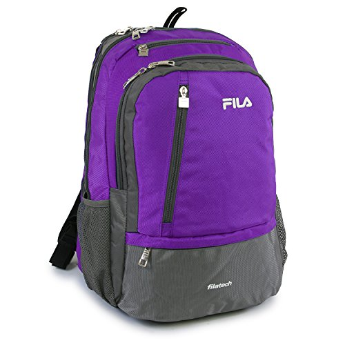 Fila Duel Tablet and Laptop Backpack, Purple