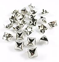 Nailheads Spots Studs 2 Prong 1/2 Square; Bright Nickel Finish 100 Pcs