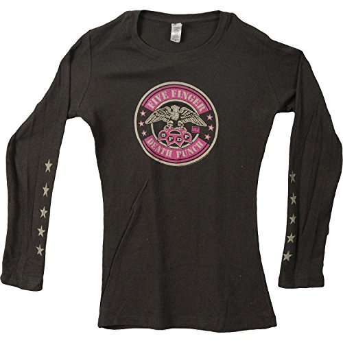 Five Finger Death Punch Women's Eagle Girls Jr Thermal Long Sleeve X-Large Black