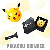 ball herb grinder - Pokemon Pikachu Grinder For Weed - Poke Ball Grinder For Herb - Aluminum Spice Grinder 3 Piece 2.2 Inch - Nuts Grinder with Kief Catcher, Scrapper and Perfect G-i-f-t Box By Gimmick