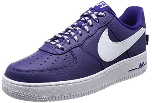 Nike AIR Force 1 '07 LV8 Mens Fashion-Sneakers 823511-501_10 - Court Purple/White (Nike Air Force One Purple And Gold)