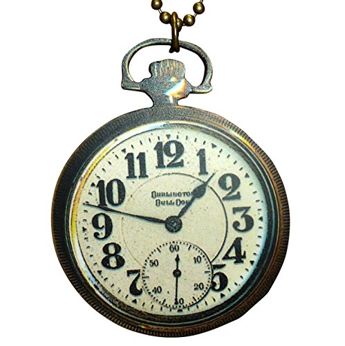 SteAMPunk pocket WAtch necklace AnTIque worn out style comes in FrEE GiFt BoX (Handcrafted w3) (Costume Pocket Watch)
