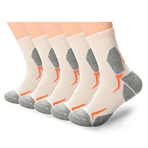 Copper Infused Compression Low Cut Ankle Quarter Anti-Smell Professional Outdoors Cushion Hiking Socks