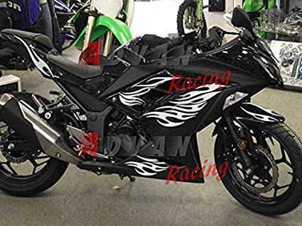 Moto Onfire ABS Injection Bodywork Plastic Fairing Kits For 13 14 15 16 Kawasaki Ninja 300 EX300R ZX300R (2013-2016) White Black