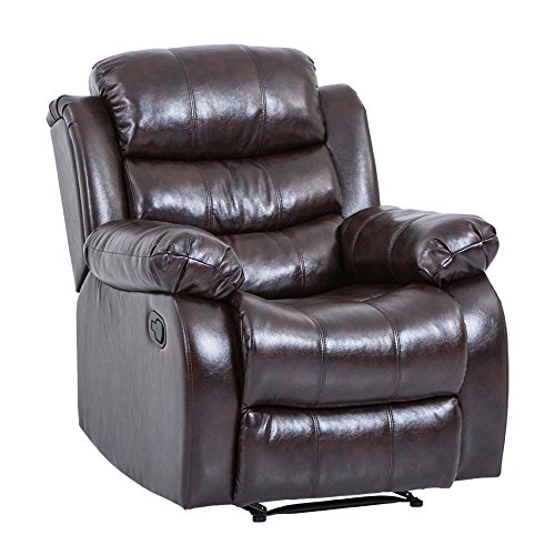 BestMassage Recliner Sofa Set Sectional Reclining Chair Modern Furniture Love seat for Living Room Classic and ()