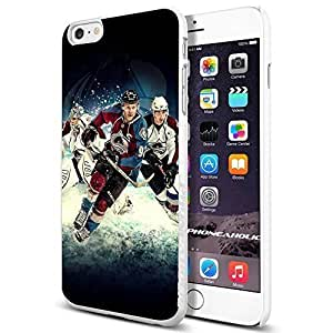 Hockey NHL Colorado player Gabriel Landeskog, , Cool iPhone 6 Plus (6+ , 5.5 Inch) Smartphone Case Cover Collector iphone TPU Rubber Case White [By PhoneAholic]