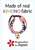 Necoichi Chirimen Cat Collar with Clover Bell