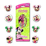 minnie mouse school supplies - Disney Minnie Mouse Bowtique 14 Piece School Supplies Set With 6 Minnie Mouse Pencils and 8 Shaped Erasers.