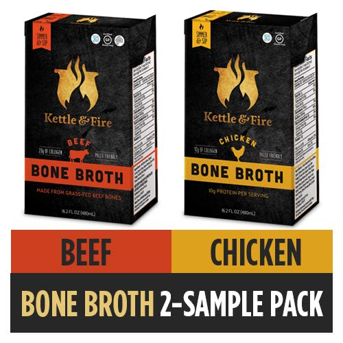 Beef and Chicken Bone Broth Soup, 2 Pack