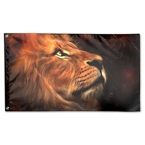 Garden Flag Lion Face Painting Outdoor Yard Home Flag Wall Lawn Banner Polyester Flag Decoration 3' X 5' ()