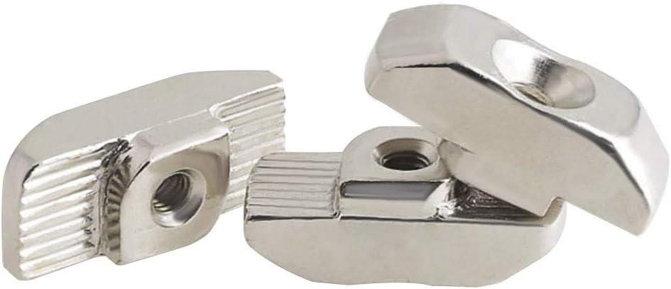M5 T Slot Dado Martello Testa di Fissaggio Dado Nichelato Acciaio Al Carbonio Esagonale Vite Bullone Alluminio Staffe Angolo 220 dadi a T serie 2020