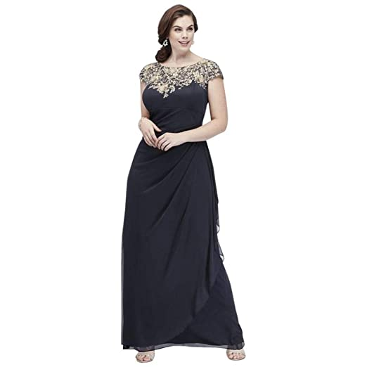 Matte Jersey Plus Size Mother of Bride/Groom Dress with ...