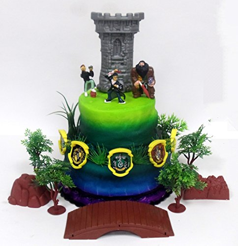 - Harry Potter 15 Piece Birthday Cake Topper Set Featuring Harry Potter and Friends with Decorative Themed Accessories