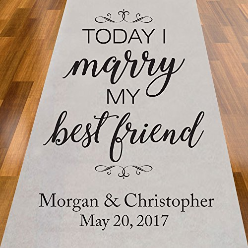 Today I Will Marry My Best Friend Personalized Aisle Runner -