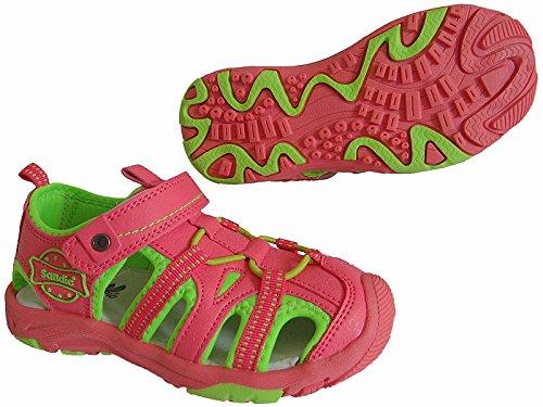 Kinder Trekking Sandale Schuhe Outdoorsandale Sandalette gr.24 - 29 art.nr.1319 watermelon-rot-grün