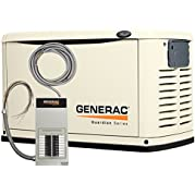 Generac 6461 Guardian Series, 16kW Air Cooled Standby Generator, Natural Gas/Liquid Propane Powered, Steel Enclosed...