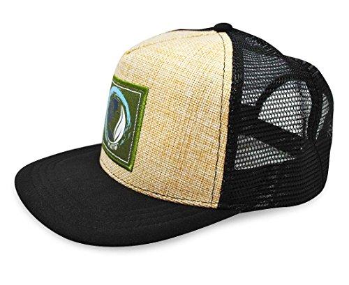6b25289555e9f4 Mato Hemp Trucker Hat Flat Brim Snapback Net Mesh Adjustable ...