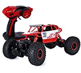 KingPow Rc Car 2.4GHz Electric Remote Control Car Rock Crawler Radio Control High Speed 25 killometer/h Racing Off Road Rc Truck - Red