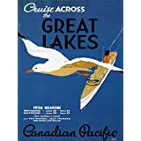 GREAT LAKES USA CANADA SHIP BOAT VINTAGE POSTER ART PRINT 12x16 inch 981PY