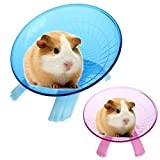 Small Animal Comfort Exercise Wheel Silent Spinner for Pet Syrian Hamsters Rat Gerbils Mice Chinchilla Guinea Pig Squirrel (Blue)