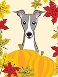 Caroline's Treasures BB2042GF Italian Greyhound Thanksgiving Garden Flag, Small, Multicolor