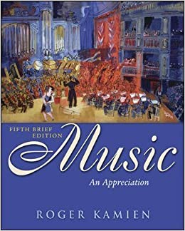 music an appreciation fifth brief edition 5th edition