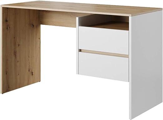 BxTxH Hell Eiche mit 3 Schubladen und Schloss WOLTU/® Schreibtisch TS59hei Computertisch B/ürotisch Arbeitstisch PC Laptop Tisch aus Holz 120x59x75cm