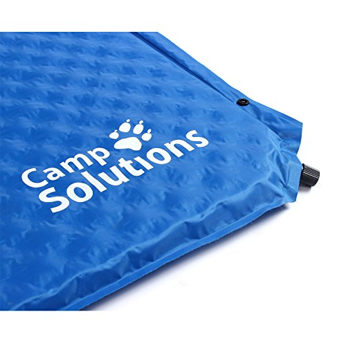 Camp Solutions Lightweight Self-Inflating Camping Sleeping Pad with Attached Pillow