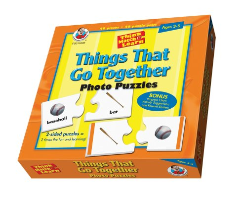 Frank Schaffer Publications Things That Go Together Puzzle: Photo Puzzles