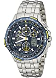 Citizen Men's JY0040-59L Eco-Drive Skyhawk At Stainless Steel Blue Dial Watch