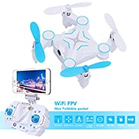 Dwi Dowellin Mini Foldable RC Drone with HD 720P Camera FPV VR Wifi RC Quadcopter Remote Control 901S Blue