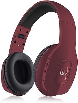 Auriculares Bluetooth,Auriculares Inalámbricos con Micrófono Estéreo de Alta Fidelidad Plegable para el Oído,Admite Llamadas Manos Libres y Modo Cableado para PC Teléfonos Celulares TV: Amazon.es: Electrónica