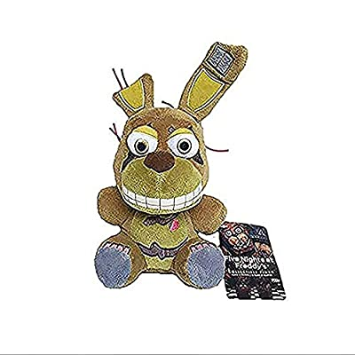 FNAF Five Nights at Freddy's Plush Bonnie Bonnet Toy Bonnie Springtrap Plush Stuffed Toys Doll Brown: Clothing