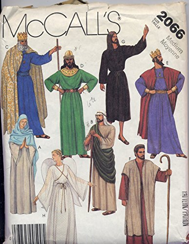 McCall's 2066 - Misses and Men's Costumes - Nativity Outfits - Size Medium