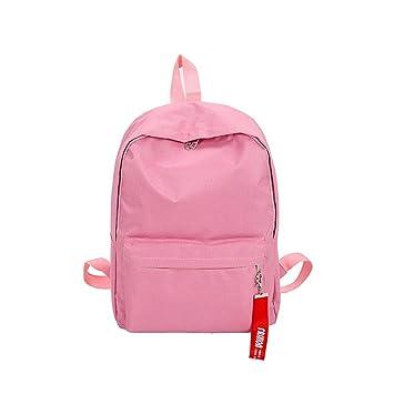 Widewing Mochilas mujer guess Bolso de escuela sólido simple de las mochilas Bolso de escuela de las muchachas Mochila de la muchacha (rosa): Amazon.es: ...