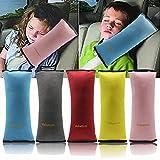 Valuetom Seatbelt Headrest Pillow Cover Shoulder Pad Comfy Support Car Pillow for Kids(Yellow)