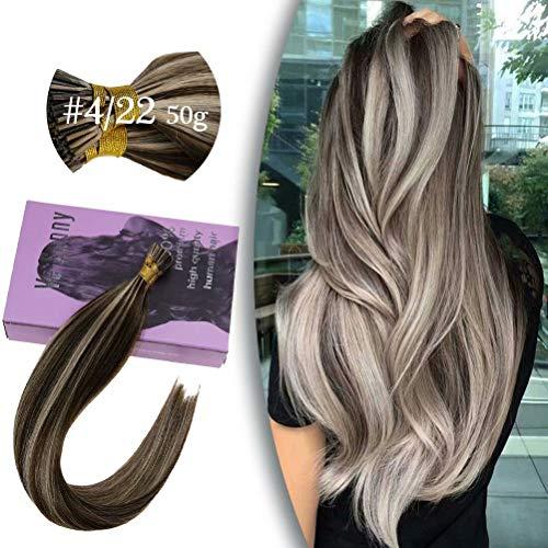 VeSunny 18-inch I-Tip Human Hair in Brown