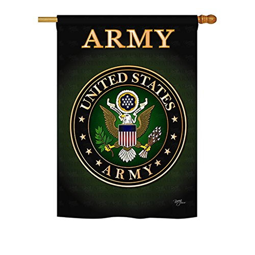 Breeze Decor – Army Americana – Everyday Military Impressions Decorative Vertical House Flag 28″ x 40″ Printed In USA