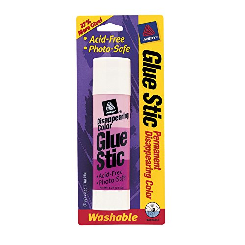 Avery Disappearing Color Glue Stic, 1.27 Ounce, Purple (00221)